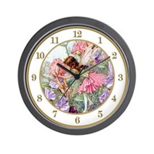 Sweet Pea Fairies Wall Clock