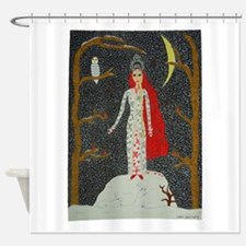 Snow Maiden (Red Ver.) Shower Curtain