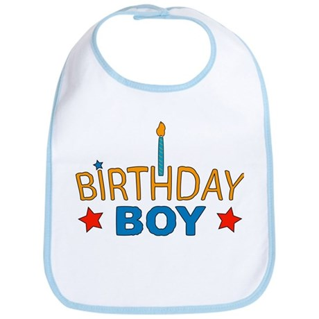 """Birthday Boy"" Baby Bib"
