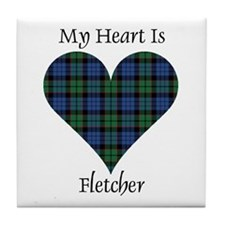 Heart - Fletcher Tile Coaster
