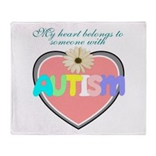 I love someone with autism 2 Throw Blanket