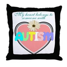 I love someone with autism 2 Throw Pillow