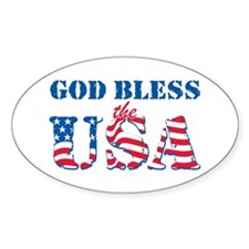 God Bless the USA Decal