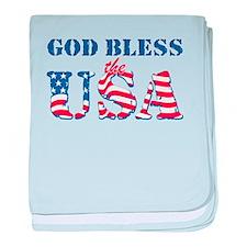 God Bless the USA baby blanket