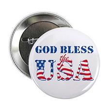"""God Bless the USA 2.25"""" Button"""