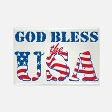 God Bless the USA Rectangle Magnet (100 pack)