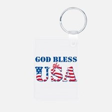 God Bless the USA Keychains