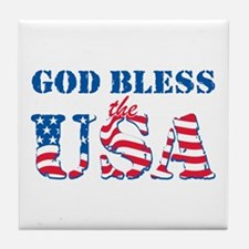 God Bless the USA Tile Coaster