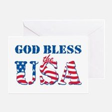God Bless the USA Greeting Card