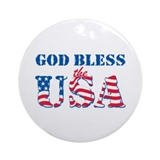 God Bless the USA Ornament (Round)