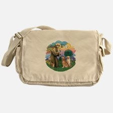 StFrancis(ff)-Two Goldens Messenger Bag