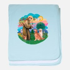 StFrancis(ff)-Two Goldens baby blanket