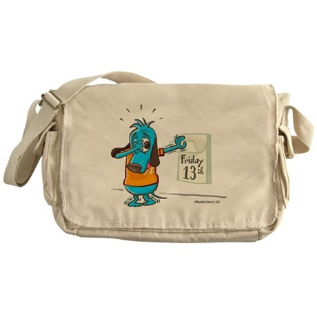 Superstitious Doggy - Friday Messenger Bag