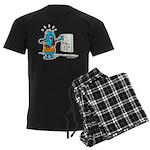 Superstitious Doggy - Friday Men's Dark Pajamas