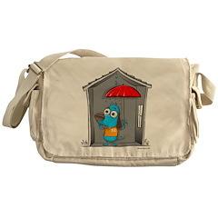 Superstitious Doggy - Open Um Messenger Bag