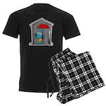 Superstitious Doggy - Open Um Men's Dark Pajamas