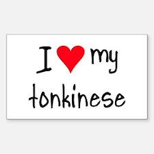 I LOVE MY Tonkinese Sticker (Rectangle)