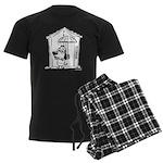 Superstitious Doggy - Umbrell Men's Dark Pajamas