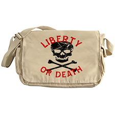 Liberty Or Death Skull Messenger Bag