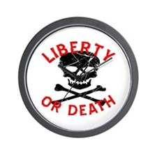 Liberty Or Death Skull Wall Clock