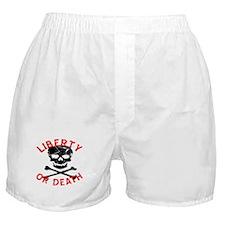 Liberty Or Death Skull Boxer Shorts