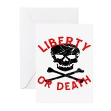 Liberty Or Death Skull Greeting Cards (Pk of 20)