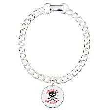 Liberty Or Death Skull Charm Bracelet, One Charm