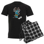 Superstitious Doggy - Spilt S Men's Dark Pajamas