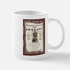 Sheriff -RecMag -Doberman,Rust Mugs