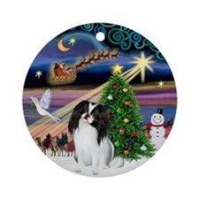 Xmas Magic & Japanese Chin Ornament (Round)