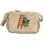 Superstitious Doggy - Walking Messenger Bag