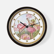 Poppy Fairy Wall Clock