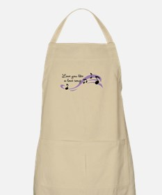 Love you like a love song Apron