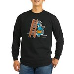 Superstitious Doggy - Walking Long Sleeve Dark T-S