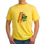 Superstitious Doggy - Walking Yellow T-Shirt