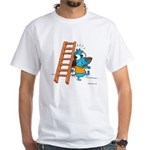 Superstitious Doggy - Walking White T-Shirt