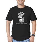 Superstitious Doggy - Knock o Men's Fitted T-Shirt