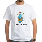 Superstitious Doggy - Knock o White T-Shirt