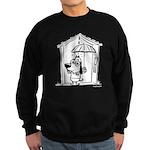 Superstitious Doggy - Umbrell Sweatshirt (dark)