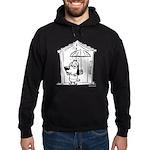 Superstitious Doggy - Umbrell Hoodie (dark)