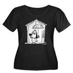 Superstitious Doggy - Umbrell Women's Plus Size Sc