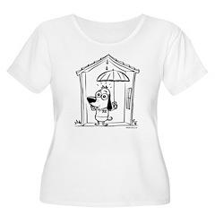 Superstitious Doggy - Umbrell T-Shirt