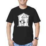 Superstitious Doggy - Umbrell Men's Fitted T-Shirt
