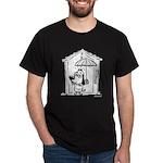 Superstitious Doggy - Umbrell Dark T-Shirt