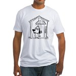 Superstitious Doggy - Umbrell Fitted T-Shirt