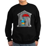 Superstitious Doggy - Open Um Sweatshirt (dark)