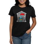 Superstitious Doggy - Open Um Women's Dark T-Shirt