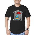 Superstitious Doggy - Open Um Men's Fitted T-Shirt