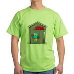 Superstitious Doggy - Open Um Green T-Shirt