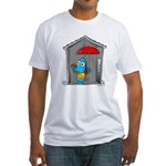 Superstitious Doggy - Open Um Fitted T-Shirt